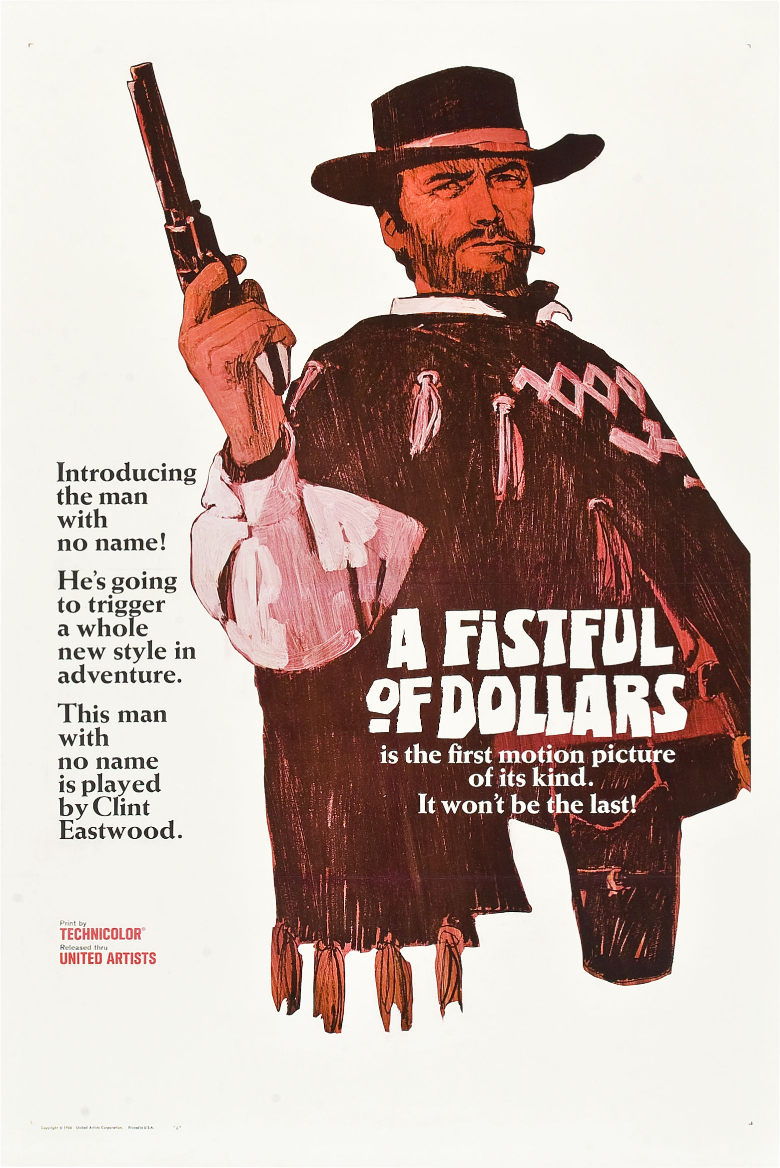 Movie Poster Checklist Fistful Of Dollars 1964 The Vintage